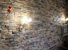 Отделка внутренних помещений декоративным искусственным камнем