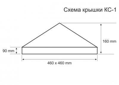 Схема крышки для столба КС-1