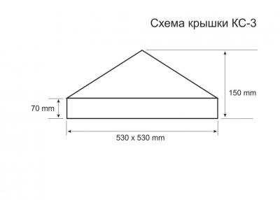 Схема крышки для столба КС-3