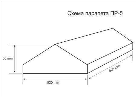 Схема парапета ПР-5