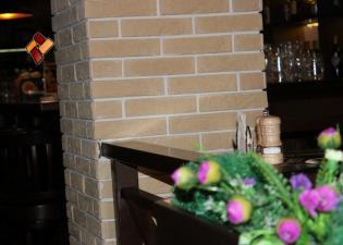 "Интерьер ресторана ""Gashtet"" -  декоративный камень Малый кирпич"