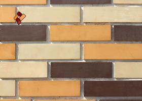 Manufactured facing stone Clinker Brick item 011