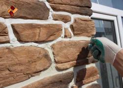 Декоративная затирка швов при укладке декоративного облицовочного камня