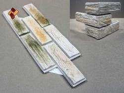 Древесный кирпич - камень для сухого монтажа