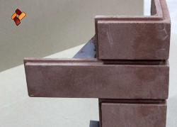 Decorative panels for glueless (dry) mounting, imitating a stone surface