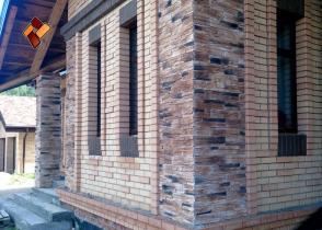 """Наши работы (фасады) - """"Скалистый грот"""""""
