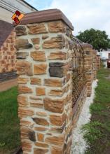 Наши работы - варианты облицовки столбов и оград