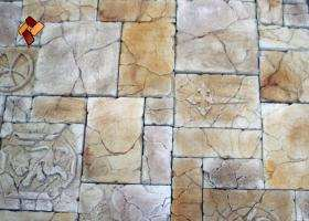 "Decorative facing stone ""Maltese fort"" 01"