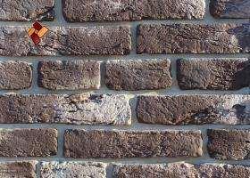 """Декоративный искусственный камень """"Состаренный кирпич"""" артикул 012 с тычками"""