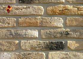 Manufactured facing stone veneer Aged Brick item 01