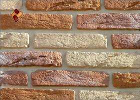 Manufactured facing stone Aged Brick	item 010