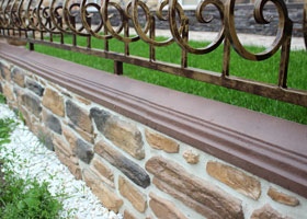 "Decorative artificial Covering plank  - parapet -  by the company ""Art-Kamen"" (Kazan)"